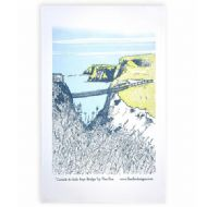 Danielle Morgan 'Carrick-A-Rede Rope Bridge' Tea Towel